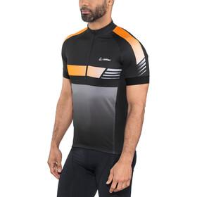 Löffler Hotbond Reflective Fietsshirt Halve Rits Heren, black/orange